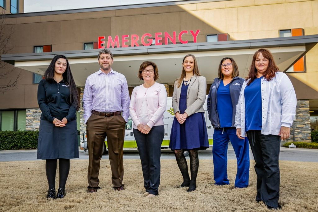 Pictured in the attached photo, from left to right, are Mary Ann Fares, MD, Daniel Robinson, MD, Tara Jernigan, Alison Ruch, MD, Kim Moreira and Tracie Withington.
