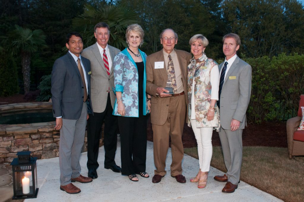 Downey Society co-chair Mohak Dave; The Medical Center Foundation Board Chairman, Jim Moore; NGHS CEO and President, Carol Burrell; (retired pediatrician/honoree) William T. Buddy Langston, MD; The Medical Center Foundation President and Chief Develo