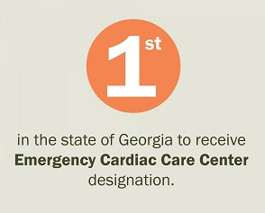 1st in the state of georgia to receive emergency cardiac care center designation
