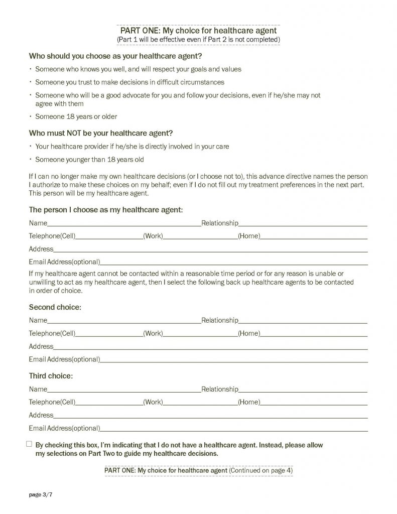 Advance Care Planning Document - Page 3