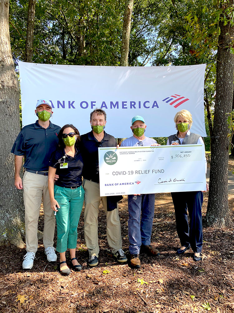 2020 Medical Center Open large check donation