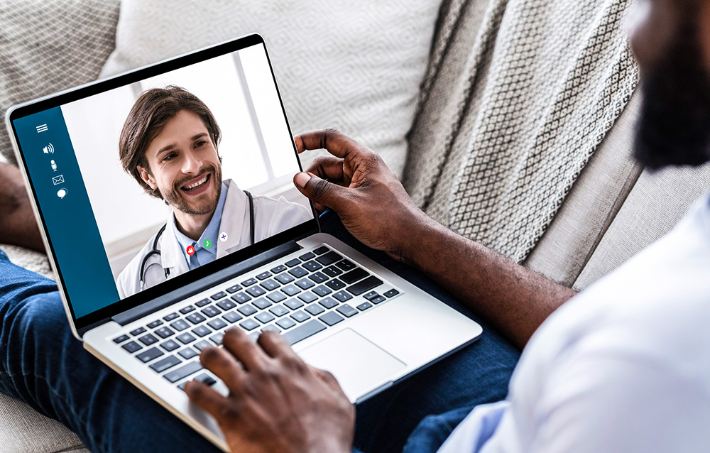 Stock photo of Virtual Visit with a Provider